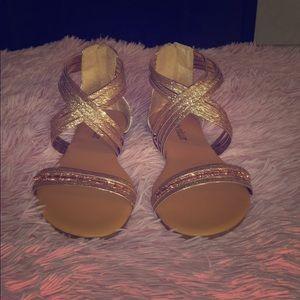 Olivia Miller Rose Gold Sandals